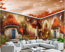 beibehang The only beautiful dream personality wallpaper mushroom house forest whole custom background papier peint behang