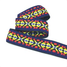 NEW 1'' 25mm 10yard/lots preferential 100% polyester color geometry Woven Jacquard Ribbon dog chain accessories KTZD16040103