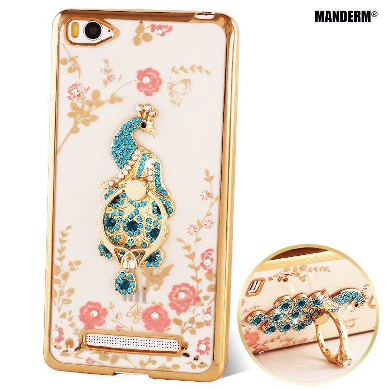 xiaomi mi 4i case Luxury Rhinestone Holder Stand Phone Case Cover For xiaomi mi 4i mi4i Silicone Case diamond back cover cases