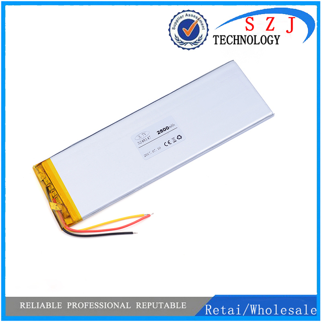 """3Cables Inner Exchange Battery 2800mA for 7"""" Irbis TX75 TX74 TX18 TX77 TX73 TX70 3G Tablet Batteries polymer lithium Replacement"""