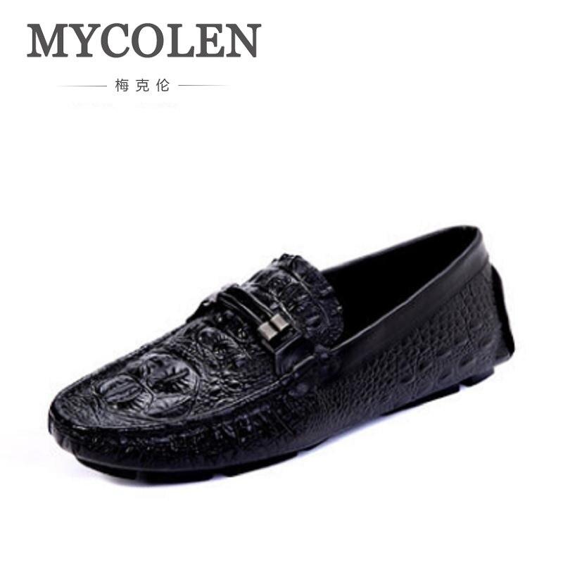 MYCOLEN hommes chaussures marque de luxe en cuir bleu Crocodile motif chaussures de conduite hommes mocassins mocassins chaussures italiennes chaussures plates pour hommeMYCOLEN hommes chaussures marque de luxe en cuir bleu Crocodile motif chaussures de conduite hommes mocassins mocassins chaussures italiennes chaussures plates pour homme