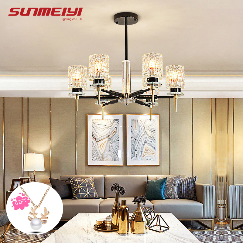 Modern LED Chandeliers Art Deco Glass Chandeliers Ceiling