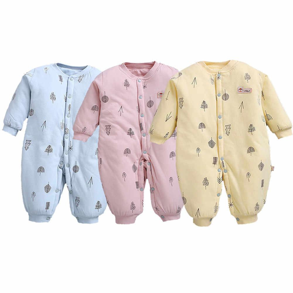 Новый утолщенный детский зимний комбинезон, зимний комбинезон для новорожденных, зимняя одежда, пальто для мальчиков, теплая одежда из 100% хлопка для девочек, боди для детей от 0 до 3 месяцев