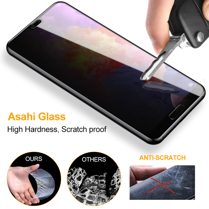 SmartDevil 3D Tempered glass For Huawei p20 Pro P20 Screen Protector Anti Privacy Full Cover Privacy Explosion Proof Protective in Phone Screen Protectors from Cellphones Telecommunications