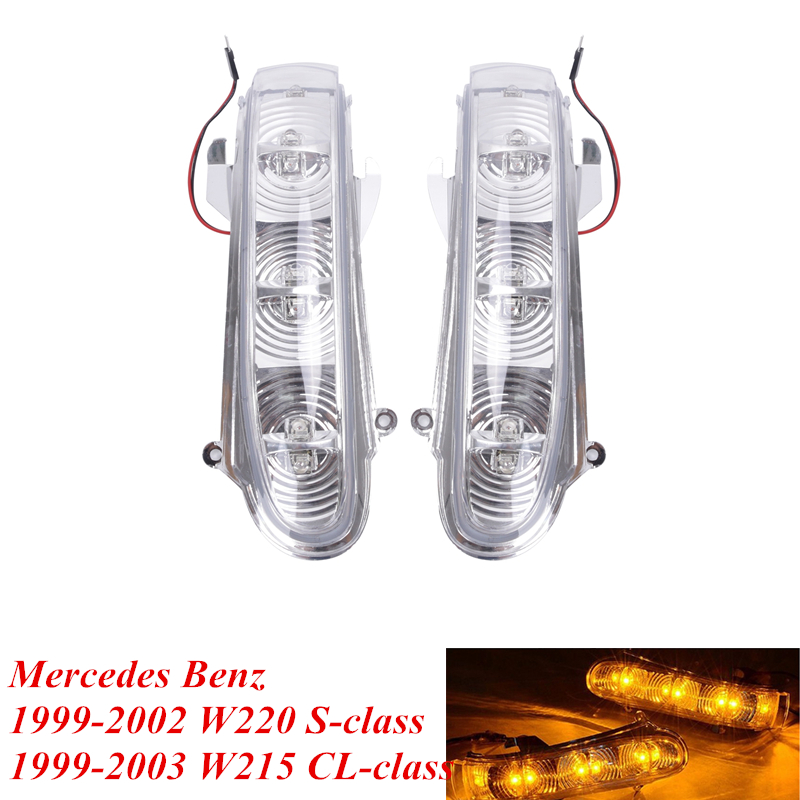2PCS LED Turn Signal Light For Mercedes Benz MB W220 W215 CL500 CL600 S430 S500 S600 CL55 S55 AMG Direction Indicator Lamp #P379 door mirror turn signal light for mercedes benz w163 ml270 ml230 ml320 ml400 ml350 ml500 ml430 ml55