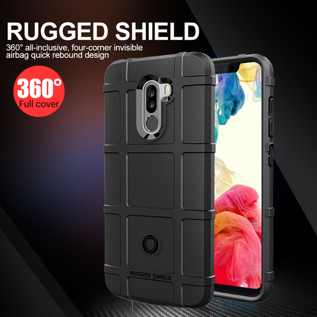 san francisco c7927 07e1f US $2.69 20% OFF|Luxury Case For Xiaomi Pocophone F1 Case Soft TPU Rugged  Shield Back Cover For Xiaomi Pocophone F1 Poco F1 Silicone Armor Cover-in  ...