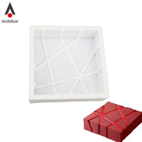 Square Shaped 3D Silicone Cake Molds Baking Chocolate Muffin Desserts DIY Cake Pan