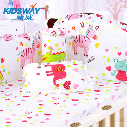 4-5-6pcs <font><b>baby</b></font> <font><b>bedding</b></font> <font><b>set</b></font> ,cotton embroidered crib <font><b>bedding</b></font> <font><b>set</b></font> ,infant nursery <font><b>set</b></font>,<font><b>baby</b></font> <font><b>bedding</b></font> <font><b>set</b></font> bumper image