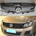 ABS ABT Estilo Amortecedor Dianteiro Grille, acessórios Do Carro Auto Malha Grills para Volkswagen (apto para VW Tiguan 2013-2015)