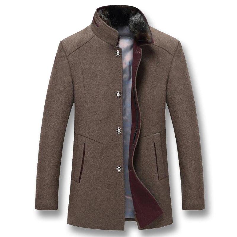 ISurvivor 2019 hommes hiver épais laine vestes manteaux Hombre mâle décontracté mode Slim Fit grande taille affaires vestes décontractée Hombre-in Vestes from Vêtements homme    1