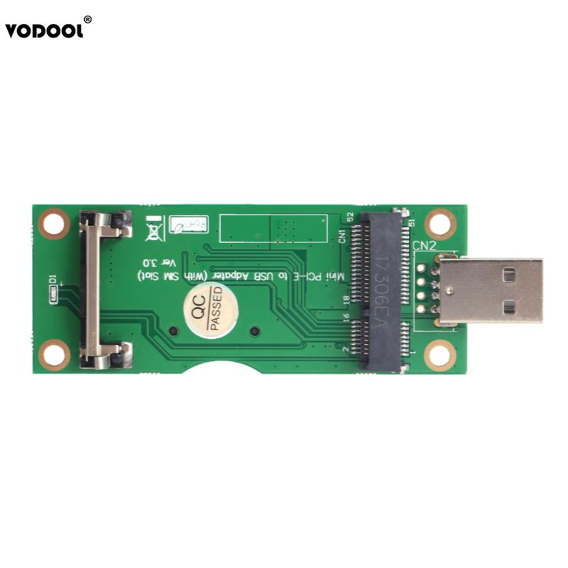 Mini PCI-E to USB Adapter with SIM 8Pin Card Slot for WWAN/LTE Module Support SIM 6pin/8pin Card Connector mini wireless pci e to usb adapter with sim 8 pin card slot for wwan lte module converts 3g 4g wireless mini card to usb port