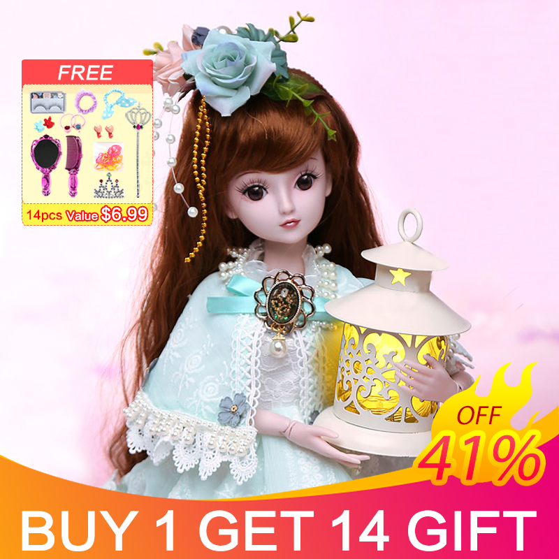 UCanaan 23 6 19 Ball Joints BJD SD Doll with Clothes Outfit Shoes Wig Hair Makeup