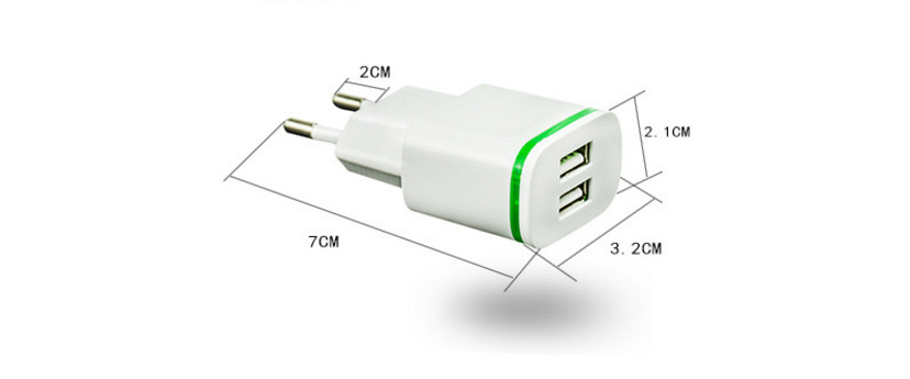5V 2.1A Smart Travel Dual 2 USB Charger Adapter Wall Portable EU Plug Mobile Phone for Senseit L301 R280 R390 R390+ R413