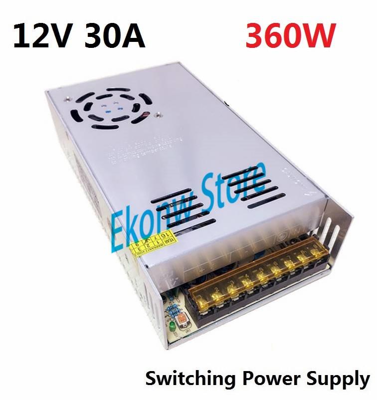 360W 12V 30A Switching Power Supply Factory Outlet SMPS Driver AC110-220V DC12V Transformer for LED Strip Light Module Display dc12v 20a 240w switching power supply dc12v lighting transformer led driver for led strip led bar light ac110 200v to dc12v