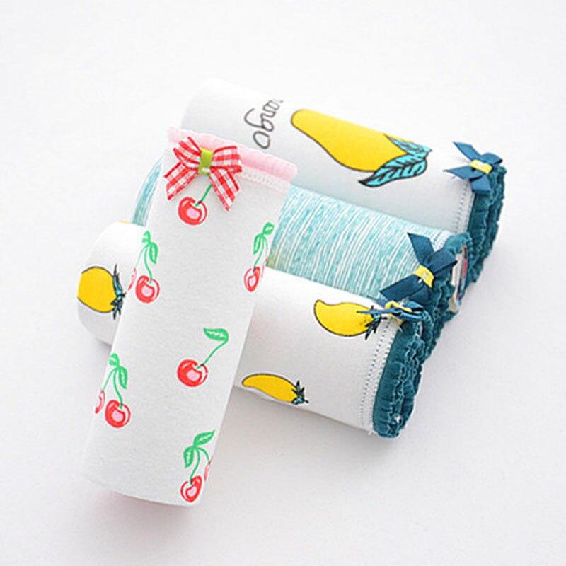 4pcs/Lot women's panties cotton briefs mango print girls underwear Breathable cute calcinhas Lingerie Intimates Comfort panty
