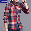 2017 Autumn Shirt Fashion British Handsome Shirt Long-sleeved Plaid Shirt Cotton Boys Tops Turn-down Collar Shirt Hot Selling