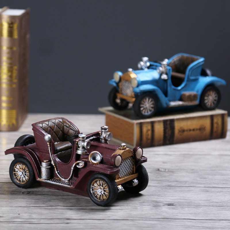 Europe Style Classic Car Figurine Resin Car Christmas Gift For Children Personalized Convertible Car Navidad Decoration CraftsEurope Style Classic Car Figurine Resin Car Christmas Gift For Children Personalized Convertible Car Navidad Decoration Crafts