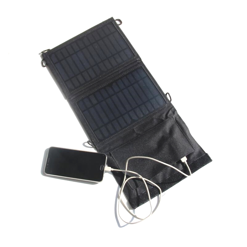 Portable 7W Foldable Solar Panel Charger For iphone /Mobile Power Bank Solar Battery Charger High Efficiency NEW