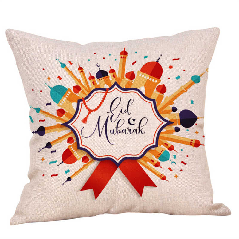 Image 4 - Eid Al Fitr Line Pillowcases Cover Super soft fabric Home  Letter Pattern Cushion Throw Bedding Pillow Case Pillow Covers-in Pillow Case from Home & Garden