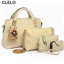 CLELO Woman Bags Fashion Women Messenger Bags PU Famous Brand Composite Bag handbag And Crossbody Bags