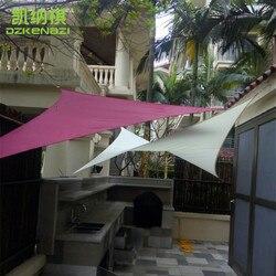 3.6x3.6x3.6 M/szt trójkątne wodoodporne tkaniny słońce żagiel przeciwsłoneczny używane jako wiata okulary przeciwsłoneczne ogród markizy netto