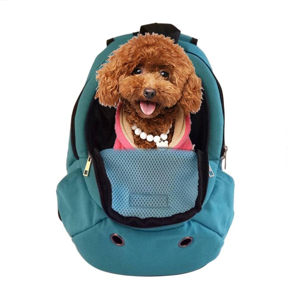 Breathable Pet Carrier Shoulders Head Out Design Travel Adjustable Shoulder Strap Portable Dog Cat Travel Bag Back Front Pack