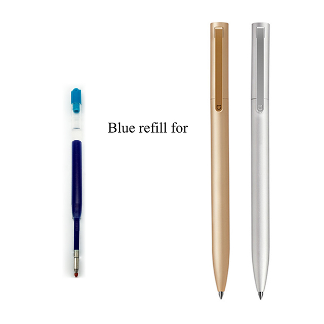 0.5mm Black Blue Color Inks Refill For New Version Xiaomi Metal Pens Replacement For Gold Silver Color Mijia Pen