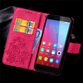 Leather Wallet Flip For Huawei Honor 4A 5X Case Retro Flower Printing Back Cover With Card Slots Stand Holder Phone Cases Shell