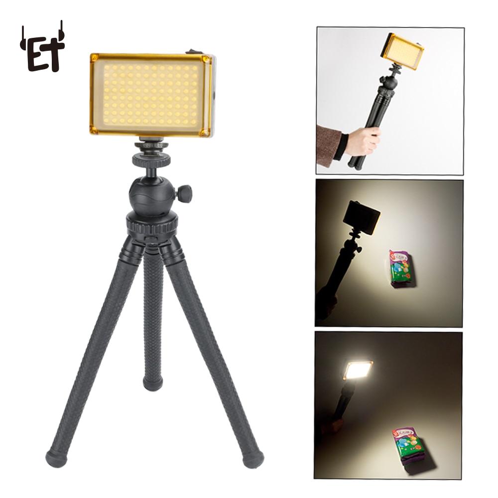 ET Dimbare 96 LED Foto Video Vullen Light Lamp voor Canon Nikon Sony DSLR SLR Camera DV Camcorder Bruiloft Fotografie verlichting