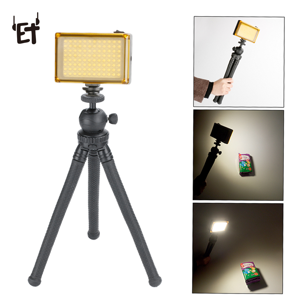 ET Dimmable 96 LED Photo Video Fill Light Lamp for Canon Nikon Sony DSLR SLR Camera DV Camcorder Wedding Photography Lighting