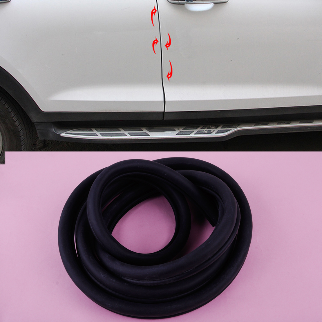 New Black Epdm Lock Rubber Seal Car Door Edge Protector Strip Bulb Rv Boat Camper Fit For Vw Toyota Bmw Audi Nissan Sale Overall Discount 50-70%