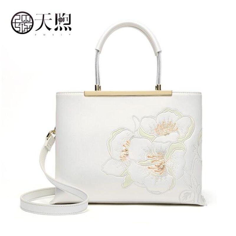 Pmsix 2019 nouvelle mode femmes en cuir sac de luxe en peau de vache sacs à main femmes sacs designer en cuir sacs à main blanc femmes en cuir sacs