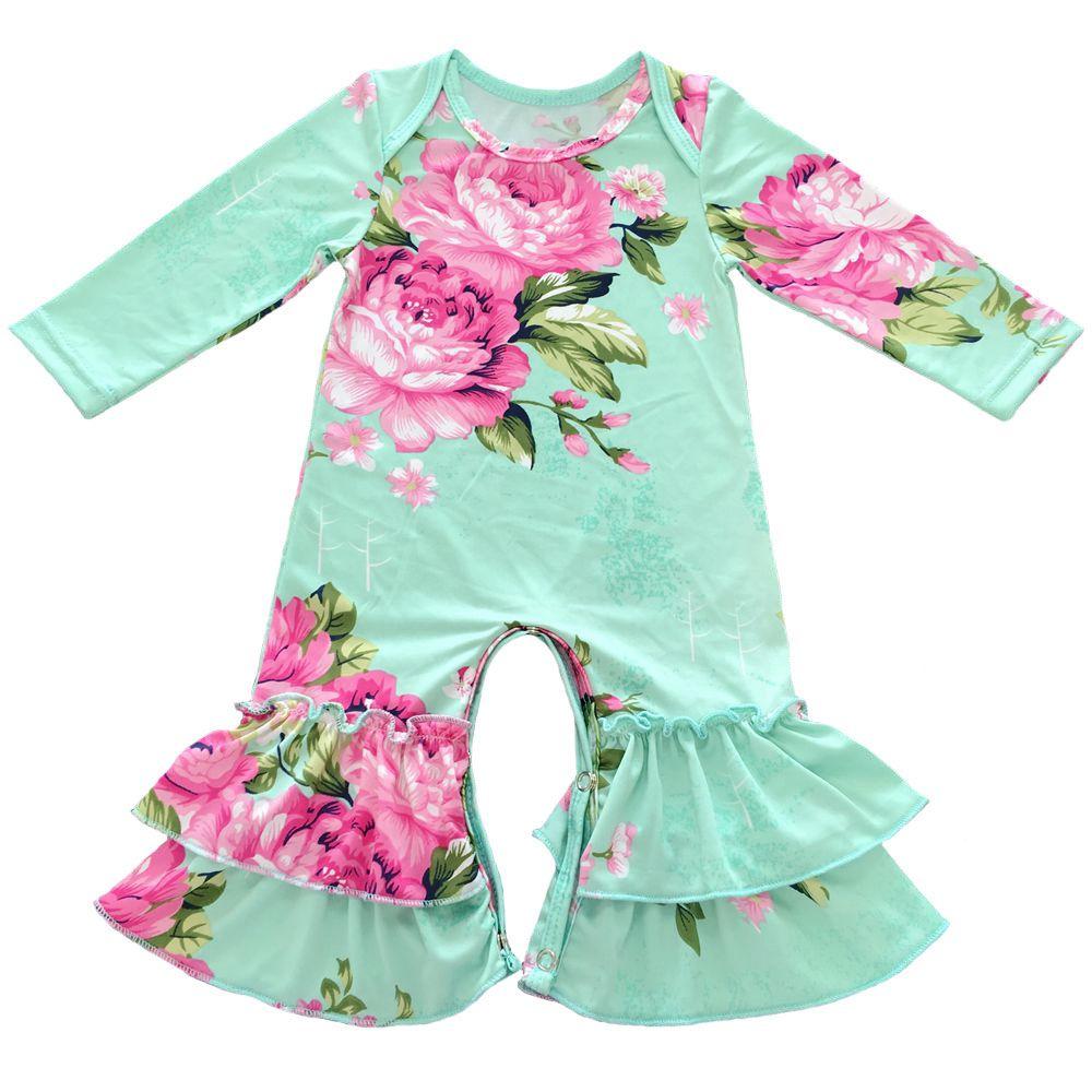 Baumwolle rüschen strampler, weihnachten baby outfit, baby mädchen schlaf strampler, Krankenhaus outfit, baby pyjamas kleid, infant und kleinkind set
