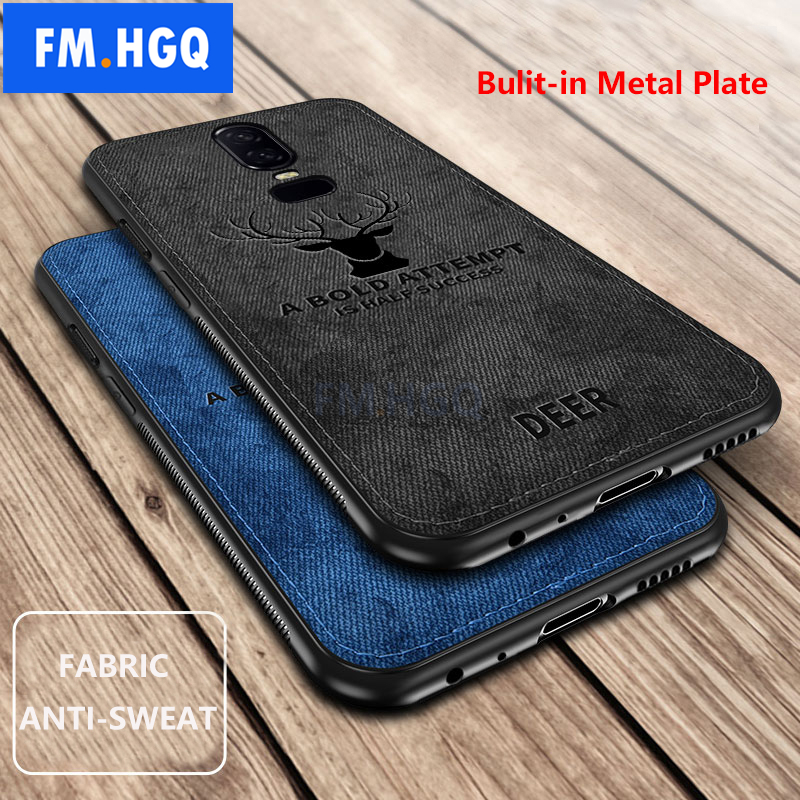 Hot Cloth Texture Deer <font><b>3D</b></font> Soft TPU Magnetic Car <font><b>Case</b></font> For <font><b>Oneplus</b></font> 6T 5T Built-in Magnet Plate <font><b>Case</b></font> For <font><b>Oneplus</b></font> 7 Pro <font><b>6</b></font> 6t 5 Cover image