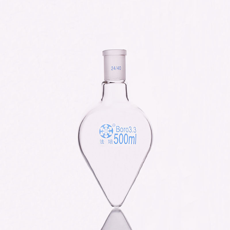 Pear-shaped Flask,Capacity 500ml,Joint 24/40,Heart-shaped Flasks,Coarse Heart-shaped Grinding Bottles