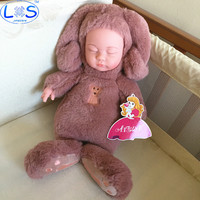 LONSUN 40CM Baby To Sleep Silicone Reborn Dolls Hobbies Stuffed Toys Accessories Bedtime Early Education Girl
