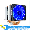 Dual LED CPU Cooler 6 Heat Sinks Pipes Heat Exchanger With Fan
