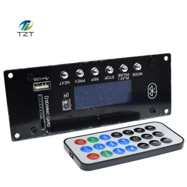 Bluetooth Wireless Audio Module MP3 Decoding Board 4.0 USB SD Radio APE FLAC WMA AUX External Signal Source Interference Board