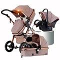 Rússia Frete Grátis Paisagem Alta Empurrar Carrinho Carro Guarda-chuva Dobrável Carrinho de Bebê Pingente Duplo Quatro Estações Do Transporte de Bebê