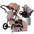 Russia Free Shipping Landscape High Push Cart Umbrella Folding Baby Carriage Pendant Double Car Four Seasons Baby Carriage