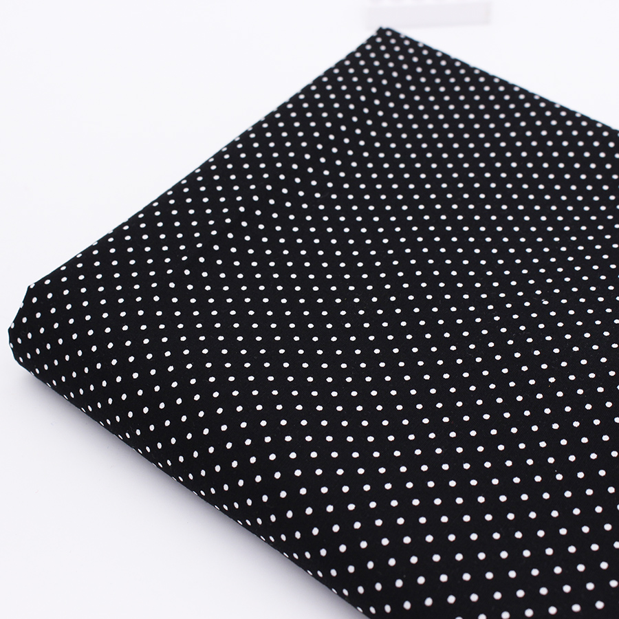 Black dot cotton fabric sewing tilda fabrics coton tissu for Cloth material for sewing