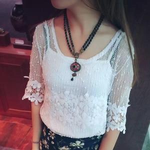 Image 3 - Amorita boutique Vintage negro collares de cuentas