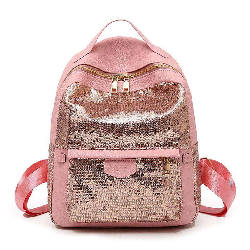 Petrichor Sequins High Quality Pu Leather Women Backpack Fashion School Bags for Teenage Girls Student Cute Female MochilaPetrichor Sequins High Quality Pu Leather Women Backpack Fashion School Bags for Teenage Girls Student Cute Female Mochila