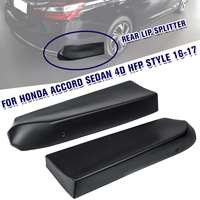 A Pair Car Rear Bumper Lip Splitter Spoiler Lip Trim Diffuser Splitter Fit For Honda for Accord Sedan 4D HFP Style 2016 2017