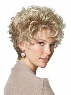 moda superventas rizado mujer corte peinado pelucas sintticas pelo corto castao rizado pelucas de la mujer
