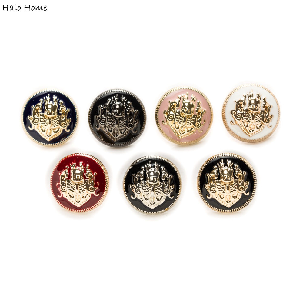 Halo Home Hale 5pcs Lion Enamel Metal Buttons for Sewing