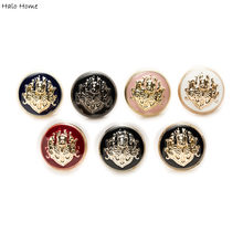Hale Home 5pcs Lion Enamel Metal Buttons for Sewing Scrapbook Jacket Blazer Sweaters Gift Crafts Handwork Clothing 10-25mm(China)