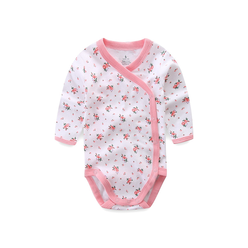 Улыбающийся малыш 5 шт./лот одежда с длинным рукавом; Детский комбинезончик из мягкого хлопка, модная одежда для детей, детская одежда с принтом в виде Одежда для новорожденных мальчиков и девочек 3
