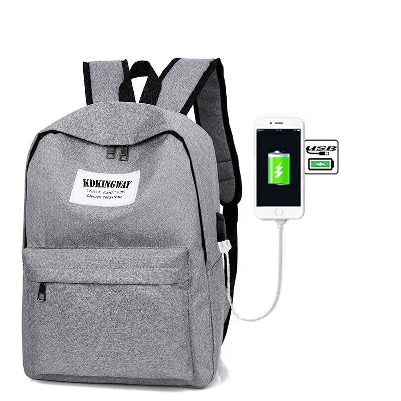 AUGUR 2018 Unisex Men Women Backpack School Bag Teenagers Laptop Backpacks USB Charging Travel Bags Large Notebook backpack 1803