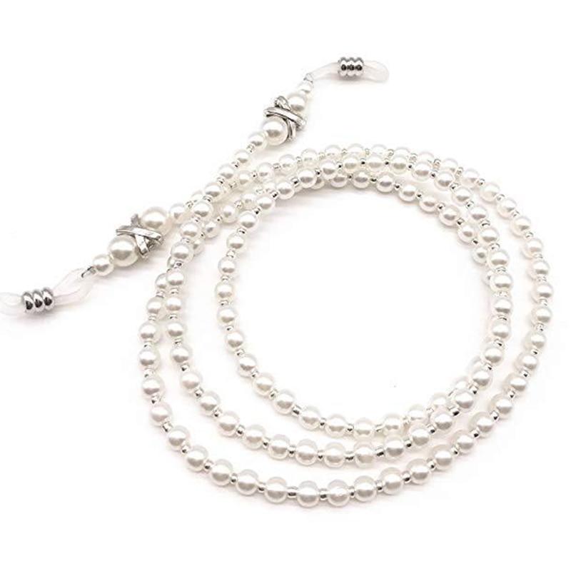 Women Fashion Sunglasses Chains Lanyards 70cm Handwork Pearls Spectacles Eyewear Accessories Female Eyeglasses D5